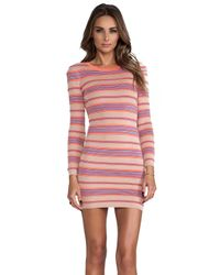 Torn By Ronny Kobo - Multicolor Malena Ottoman Stripes Dress - Lyst