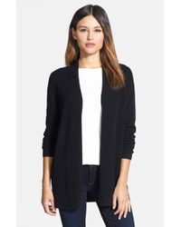 Nordstrom Collection - Black Open Front Cashmere Cardigan - Lyst