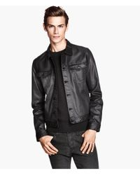 H&M | Black Denim Jacket for Men | Lyst