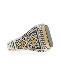 Konstantino - Metallic Men's Onyx Square Ring for Men - Lyst