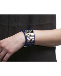Hermès | Pre-owned Electric Blue Alligator Cdc Bracelet | Lyst