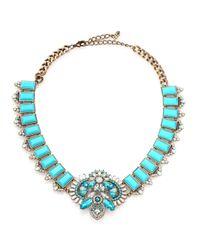 ABS By Allen Schwartz - Blue Ornate Statement Necklace - Lyst