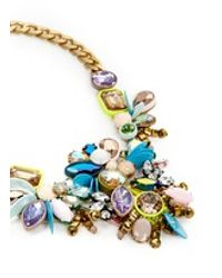 J.Crew | Metallic Crystal Statement Necklace | Lyst