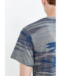 Alternative Apparel | Blue Camo Crew Neck Tee for Men | Lyst