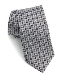 JZ Richards - Gray Geometric Silk Tie for Men - Lyst