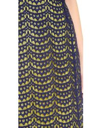 Carven | Blue Lace Skirt | Lyst