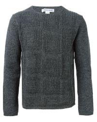Comme des Garçons - Gray Square Pattern Sweater for Men - Lyst