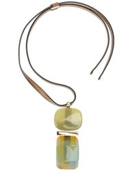 Marni | Green Resin Bead Necklace | Lyst