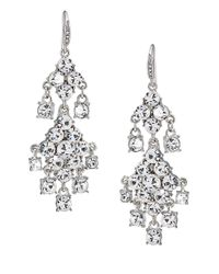 Carolee | Metallic Broadway Lights Double Drop Chandelier Earrings | Lyst