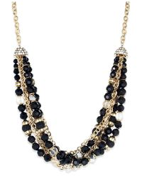 INC International Concepts | Black Gold-tone Jet Bead And Chain Torsade Frontal Necklace | Lyst