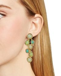 Ralph Lauren - Metallic Lauren Cluster Drop Earrings - Lyst