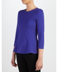 Lauren by Ralph Lauren - Blue Seedah Peplum Top - Lyst