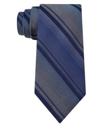 DKNY | Blue Silk Stripe Tie for Men | Lyst