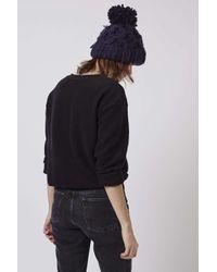 TOPSHOP - Black California Brushed Sweatshirt - Lyst
