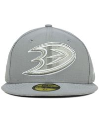 KTZ | Gray Anaheim Ducks C-dub 59fifty Cap for Men | Lyst
