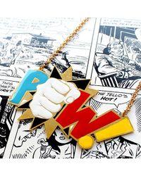 Noir Jewelry - Metallic Pow Long Enamel Dc Comics Necklace - Lyst