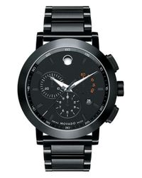 Movado - Black 'museum' Chronograph Bracelet Watch for Men - Lyst