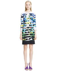 Mary Katrantzou | Multicolor Floral Print Sheath Dress | Lyst