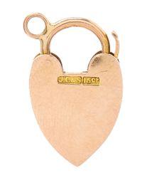 Annina Vogel - Pink Rose Gold Heart Charm - Lyst