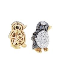 Pippo Perez - Metallic Diamond Penguin Studs - Lyst