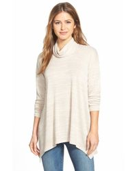 Kensie | Natural Space Dye Turtleneck Sweater | Lyst