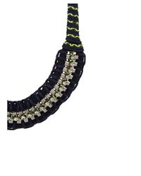 Adia Kibur - Blue Braided Box Chain Necklace - Lyst