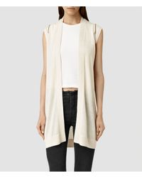 AllSaints | Natural Dash Cardigan | Lyst