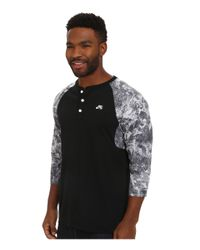 Nike | Black Sb Dri-fit 3/4 Sleeve Fern Henley for Men | Lyst