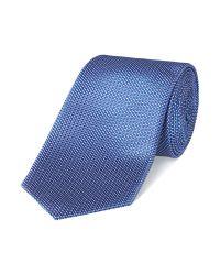HUGO - Blue Plain Tie for Men - Lyst