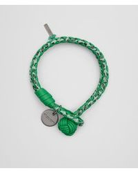 Bottega Veneta - Green Bracelet In Irish Intrecciato Nappa And Ayers - Lyst