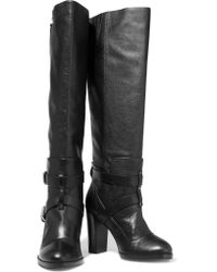 Rebecca Minkoff - Black Billie Textured-leather Over-the-knee Boots - Lyst