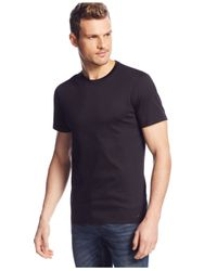 Michael Kors | Black Liquid Jersey Crew-Neck T-Shirt for Men | Lyst