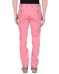 PT01 - Pink Casual Trouser for Men - Lyst
