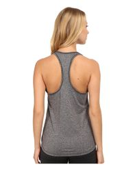 New Balance | Gray Heathered Jersey Tank Top | Lyst