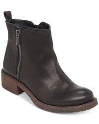 Lucky Brand | Black Womens Darbie Lug Bottom Booties | Lyst