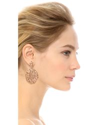 Aurelie Bidermann | Pink Lace Earrings | Lyst