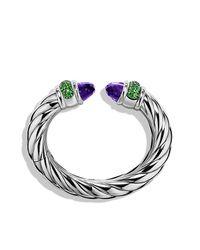 David Yurman - Metallic Waverly Bracelet, 25mm - Lyst