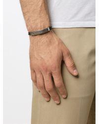 M. Cohen - Metallic Silver Plaque Bracelet for Men - Lyst
