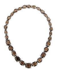 Alexis Bittar Fine | Metallic Smoky Quartz & Diamond Necklace | Lyst