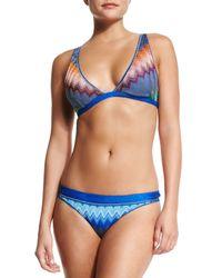 Missoni - Blue Zigzag-print Underwire Bikini Set - Lyst
