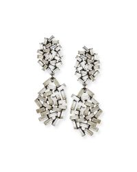 DANNIJO - Metallic Mayfield Crystal Drop Earrings - Lyst