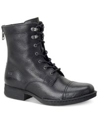 Born - Black Kelisa Lace-up Boots - Lyst