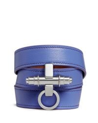 Givenchy - Purple 'Obsedia' Triple Wrap Leather Bracelet - Lyst