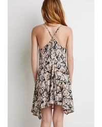 Forever 21 | Pink Crisscross-back Abstract Print Dress | Lyst