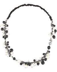Maison Michel - Pearl Headband, Women's, Black White - Lyst