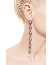 Masterpeace - Red Rostov Long Enamel Earrings - Lyst