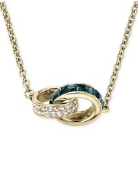"""Michael Kors   Metallic Pave Ring Link Necklace, 28""""   Lyst"""