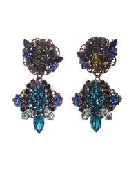 Erickson Beamon | Blue Ripple Cascade Earrings | Lyst