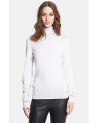Lanvin - White Cashmere & Silk Turtleneck - Lyst