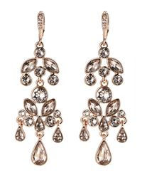 Givenchy | Metallic Rose Gold-Tone & Champagne Chandelier Earrings | Lyst